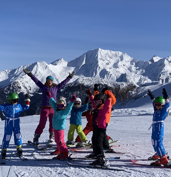 Children's Ski Lessons in Courchevel and La Tania